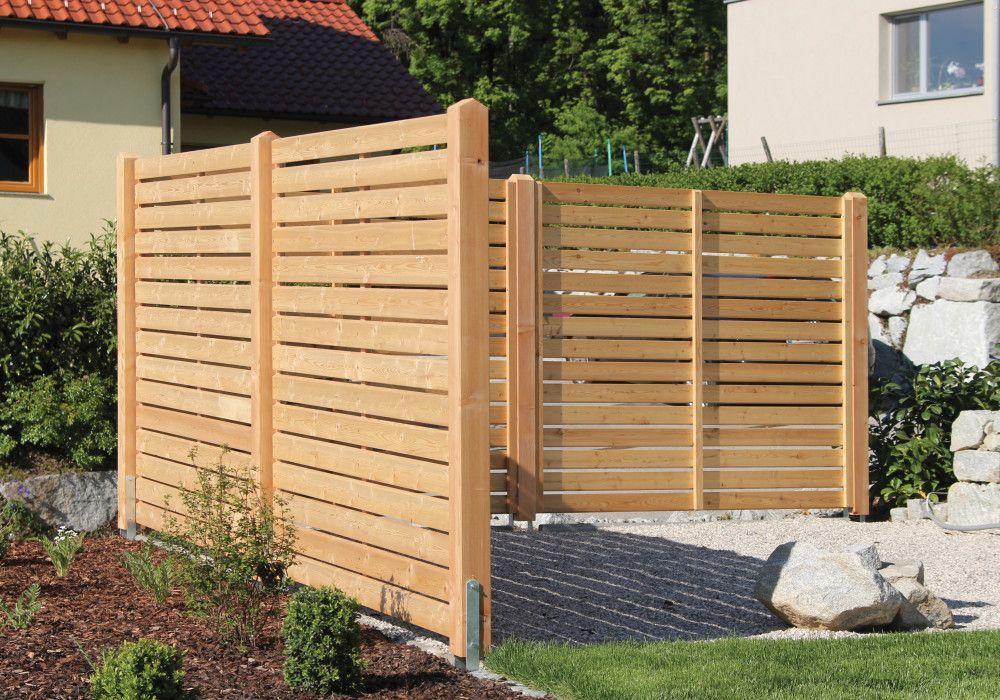 Sichtschutzzaun Aus Larchenholz Nach Mass Gefertigt Aus Gefertigt Larchenholz Mass Nach Sichtschutzterrabe Sichtschut Diy Fence Privacy Walls Wood Fence