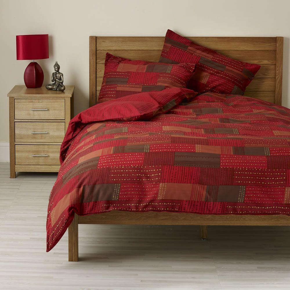 Wilko Patchwork Duvet Set Red Double At Wilko Com Duvet Sets Duvet Covers Bedding Sets