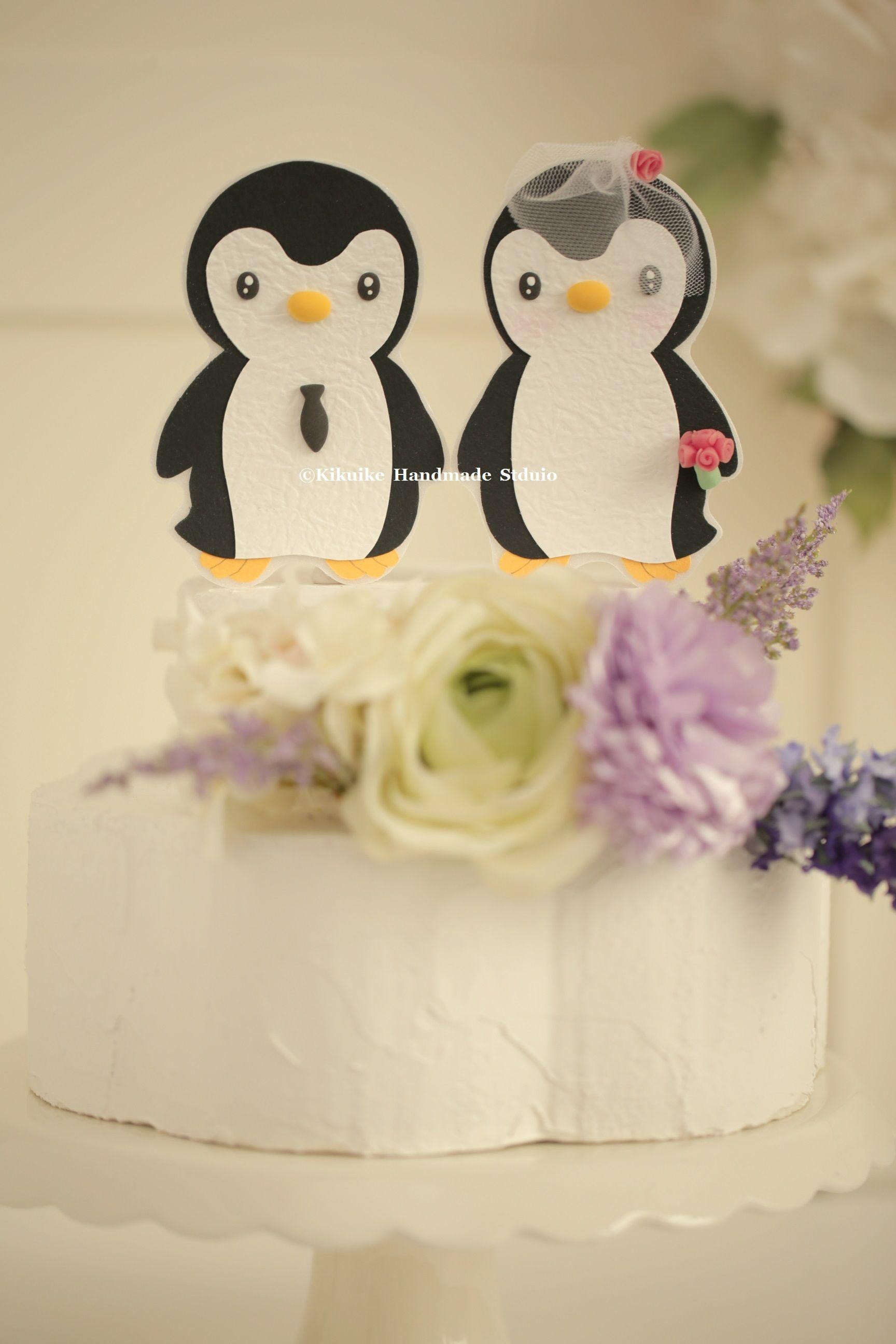 Penguins Wedding Cake Topper,Custom Penguins Wedding cake topper ...