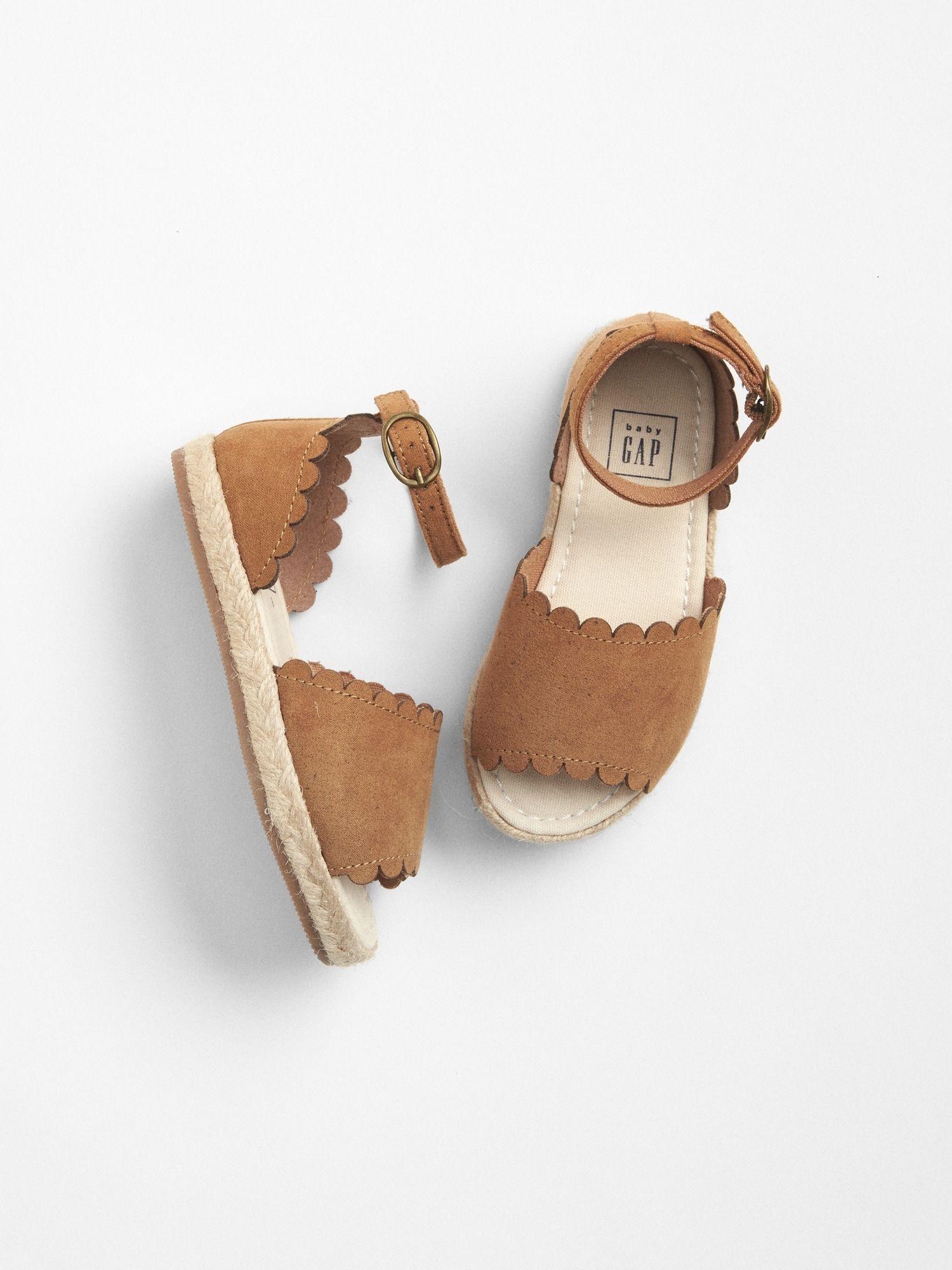 350c552544a183 Scalloped Espadrille Sandals | Gap | Girl fashion | Toddler sandals ...