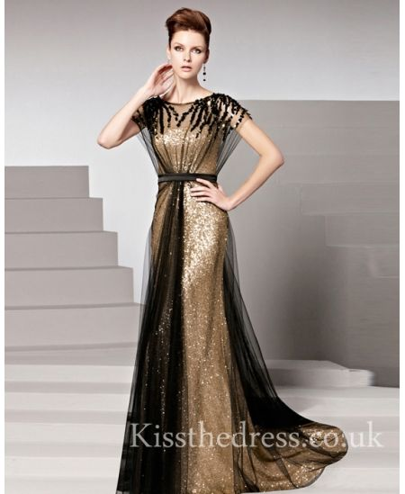 Cheap black and gold evening dresses