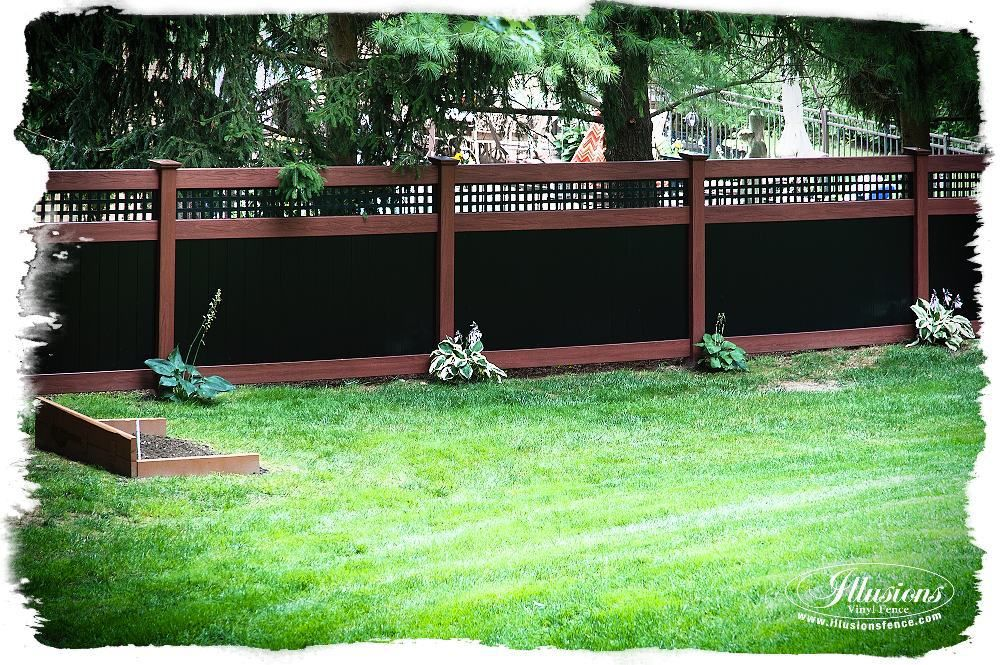 rosewood and black pvc vinyl privacy fence vinyl privacy fence