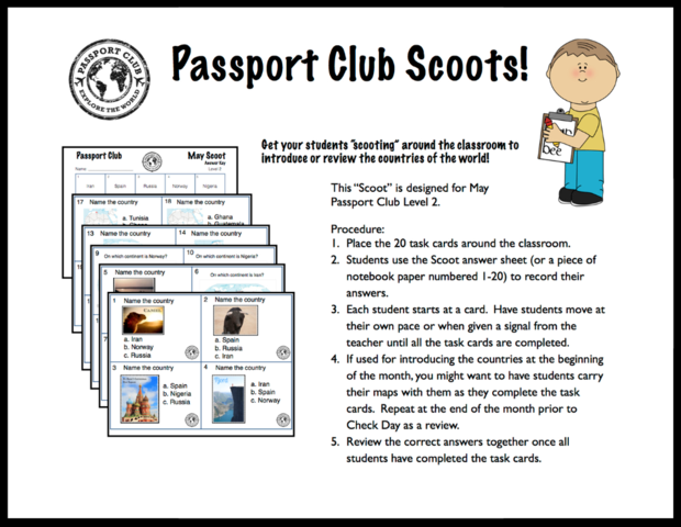 SCOOTS | September Passport Club Resources | Geography