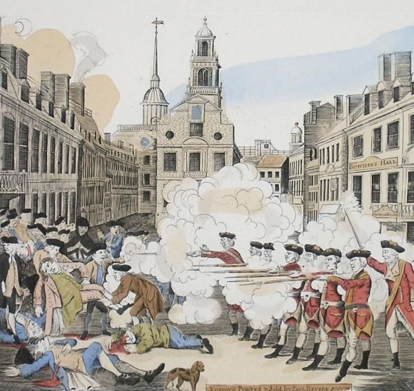 The Boston Massacre was when a group of colonists angry about all of the  taxed threw