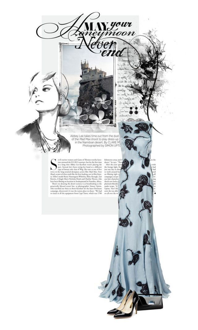 """""""Falling for Sylvia"""" by katrinarudolstadt ❤ liked on Polyvore featuring Kershaw, Nina Ricci, Christian Louboutin, Rupert Sanderson and Givenchy"""