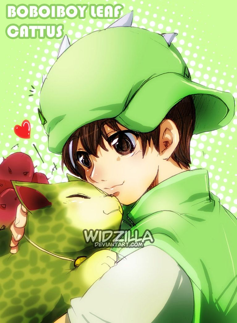 Boboiboy Leaf and Cattus by on