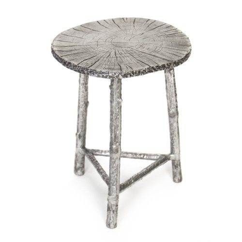Chair Leg Caps With Bronze Accent: Knox And Harrison Cast Aluminum (Silver) Accent Table
