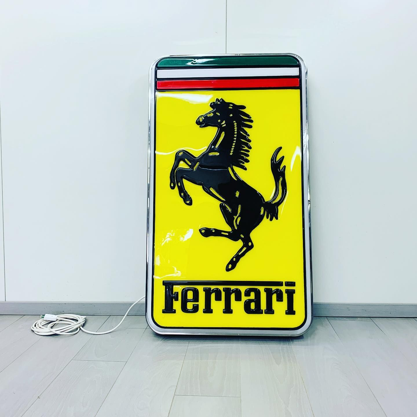 Fantastic Ferrari Illuminated Sign Original Made By Neon Modena 115 Cm Tall And 65 Cm Wide A Must Have For Any Ferra Ferrari Sign Illuminated Signs Ferrari