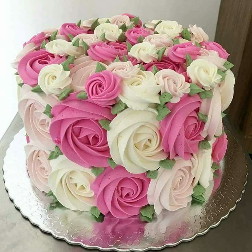 Cake Decorations Pink Roses : I am making myself this cake for my birthday!! Russian ...