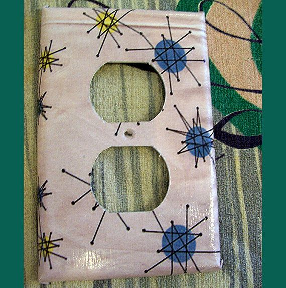 Mid Century Switch Plate Retro Vintage 1950s Atomic Era Etsy Switch Plate Covers Switch Plates Light Switch Plate Cover