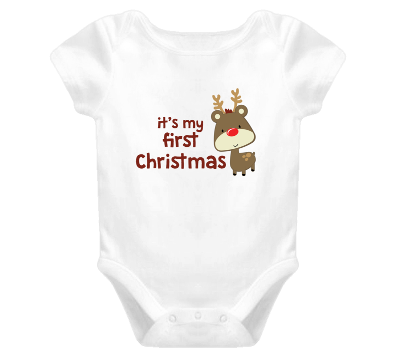 It's my First Christmas Baby Onesie | How cute is this? www.jamesteeshirts.com