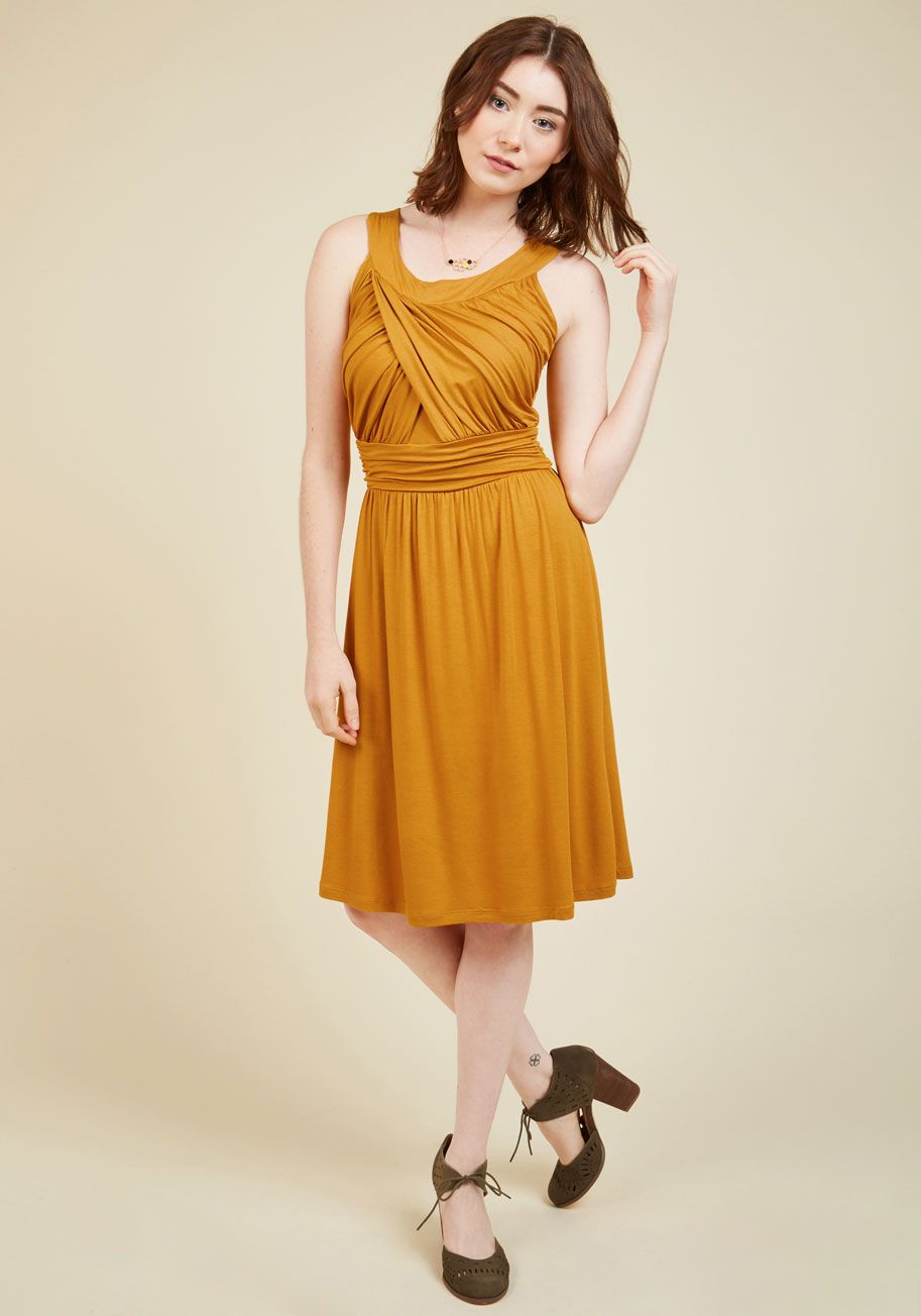 New Arrivals So Happy To Gather Dress In Sunflower Mod Cloth Dresses Dresses A Line Dress [ 1304 x 913 Pixel ]