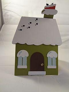 Vielleicht ein Hexenhaus? eine Karte für weihnachten