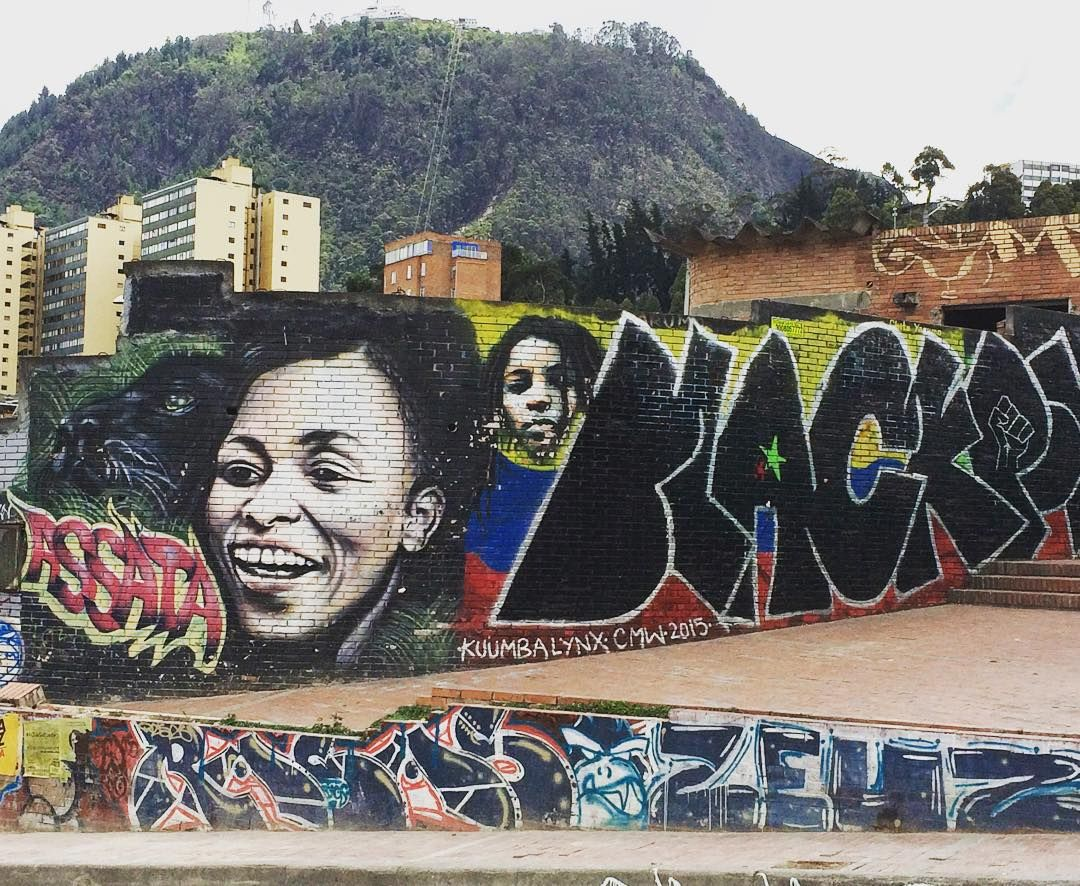 R A C H E L On Instagram Assata All Over The City Of Bogota You Will See Protests And Symbols Of Blackpower Isu South America Instagram Posts City