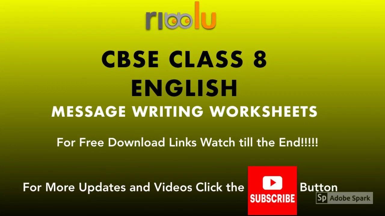 Cbse Class 8 English Message Writing Practice Worksheets Writing Practice Worksheets Writing Practice Practices Worksheets [ 720 x 1280 Pixel ]