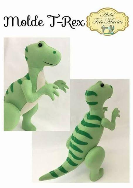 Fabuloso Moldes de Dinossauros 3D em feltro | Dinossauro 3d, Molde de  NS93