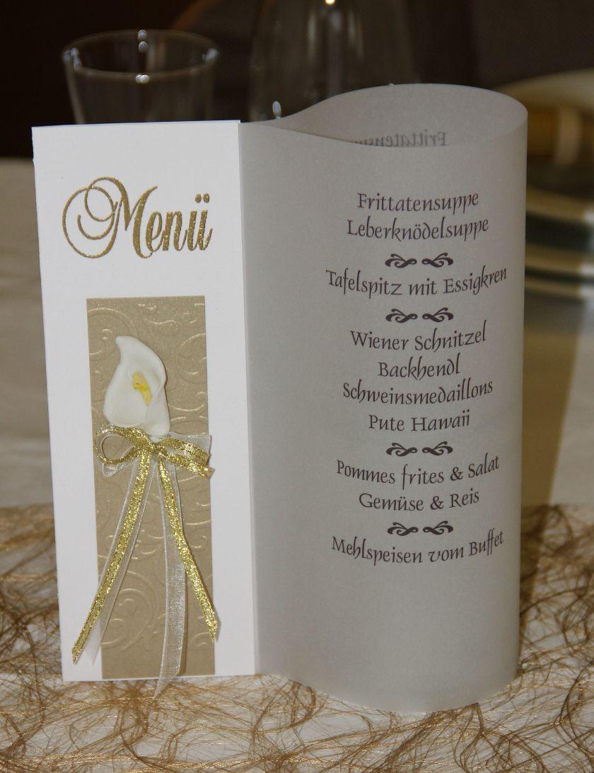 Menükarte für eine Goldene Hochzeit Mehr Infos unter klein