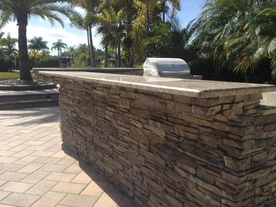 Custom marble outdoor kitchen by Costa Kitchens! Outdoor