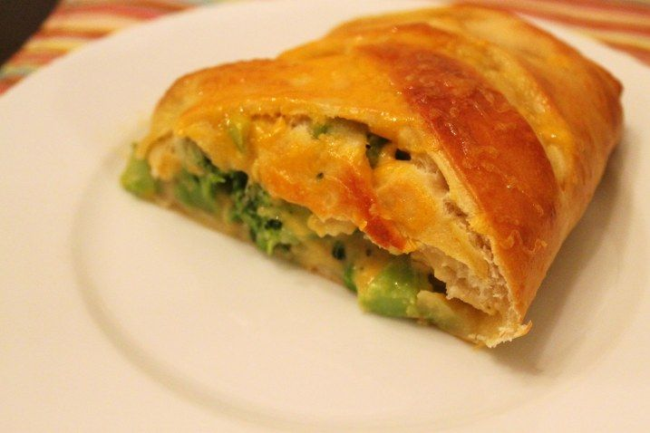 Broccoli & Cheese Braided Calzone.