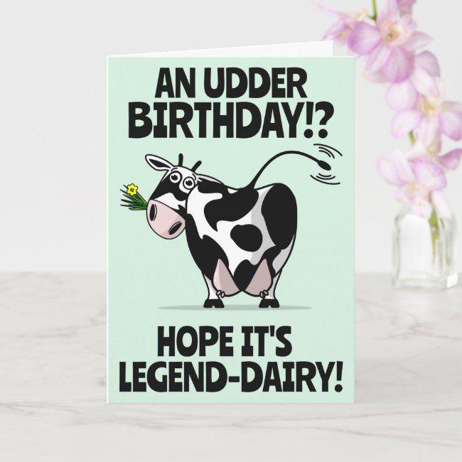Cute Cartoon Farmyard Cow Happy Birthday Card Zazzle Com In 2021 Happy Birthday Cow Happy Birthday Cards Birthday Cards