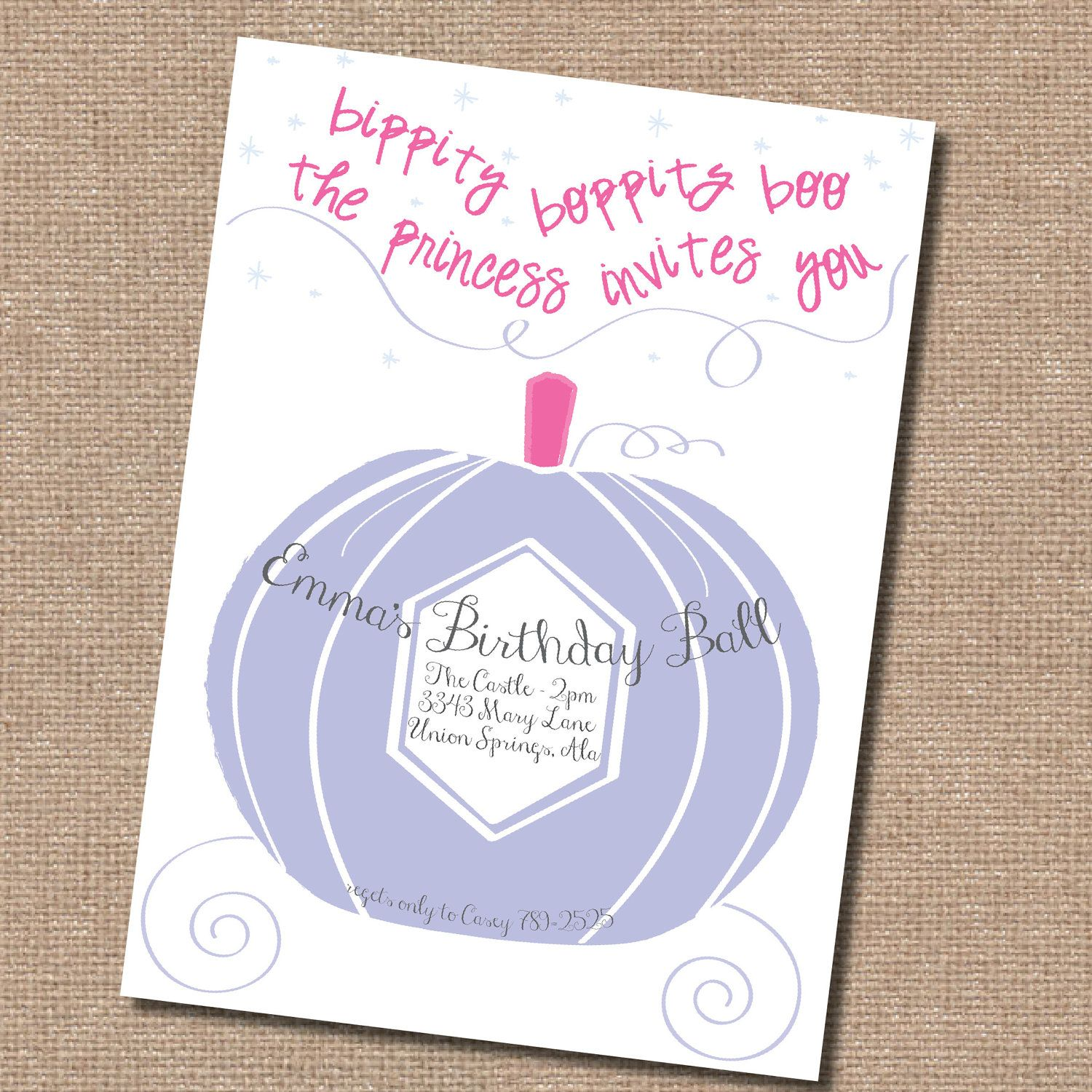Cinderella Birthday Invitation 10 Birthday Pinterest