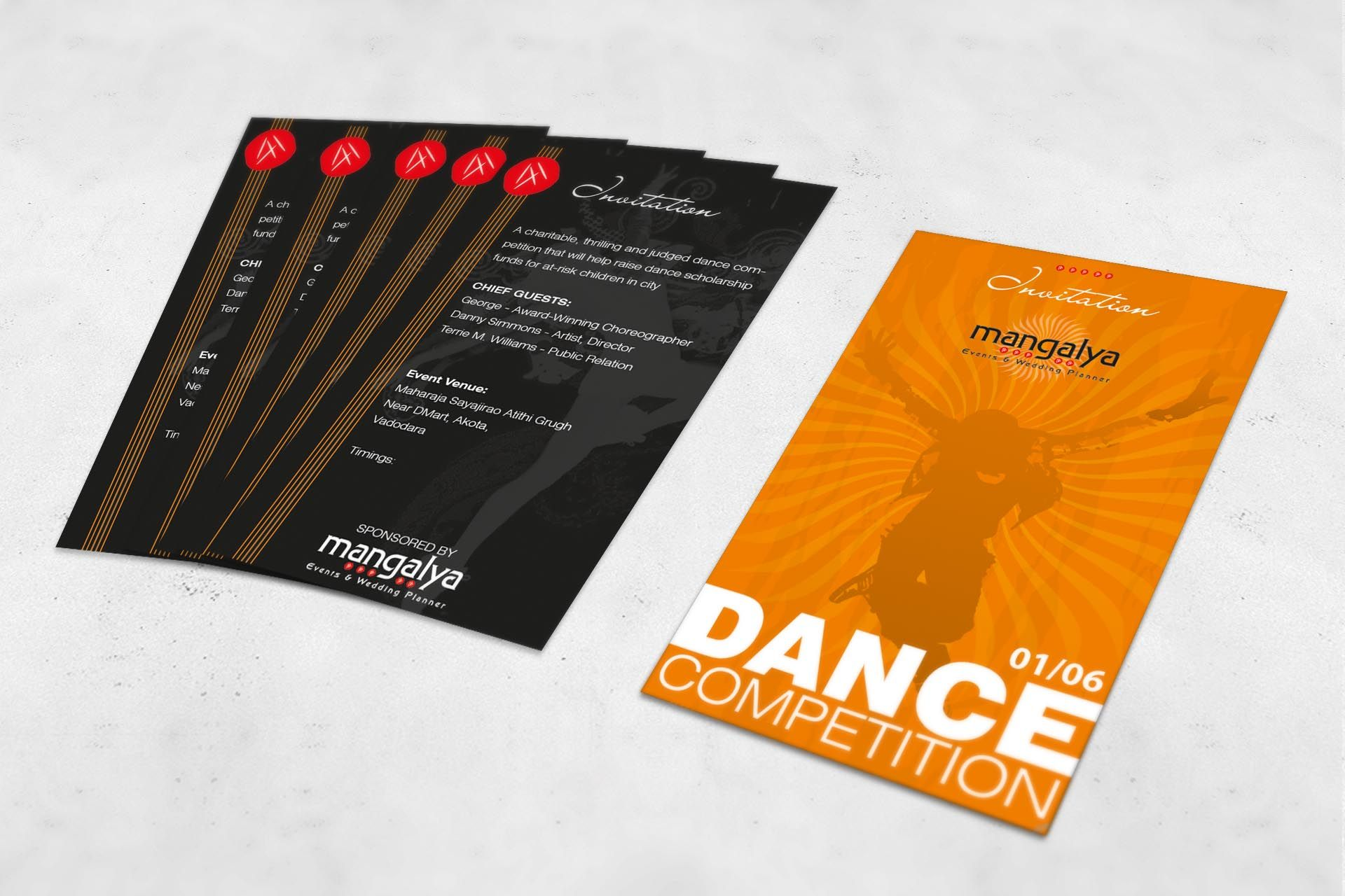 Mangalya Invitation Cards For Dance Competition Invitation