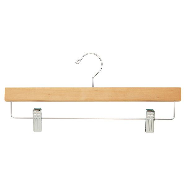 The Container Store > Natural Hardwood Trouser Clamp & Skirt Hanger