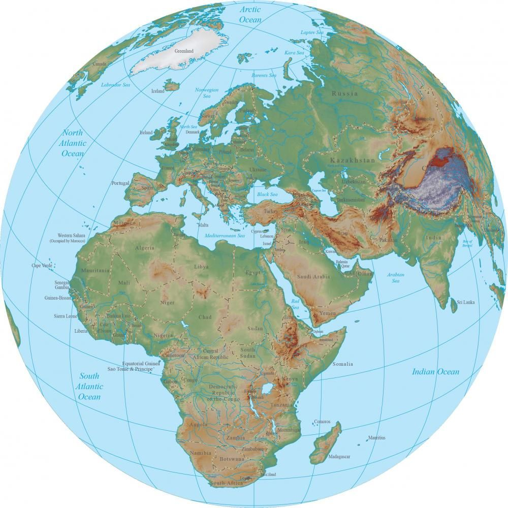 world terrain map globe africa custom wall decals wall decal world terrain map globe africa custom wall decals wall decal art and