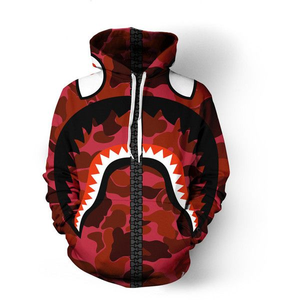54d112ed Bape Hoodie ($80) ❤ liked on Polyvore featuring tops, hoodies, hoodie top,  a bathing ape hoodie, red hoodie, checkered hoodie and a bathing ape