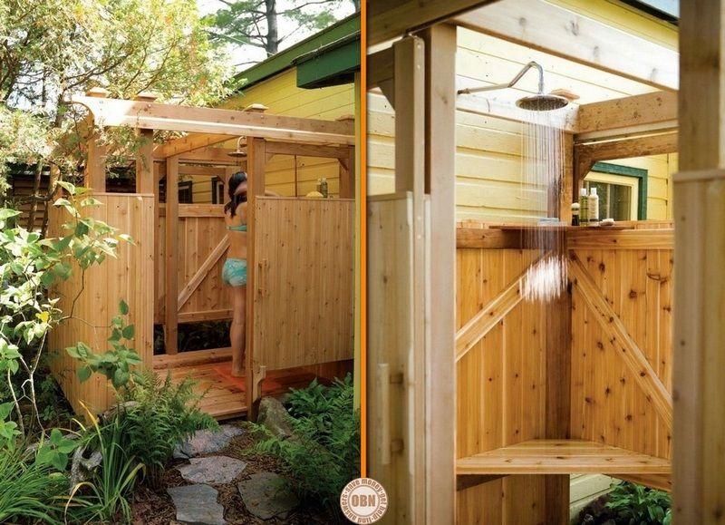 diy outdoor shower helps. Black Bedroom Furniture Sets. Home Design Ideas