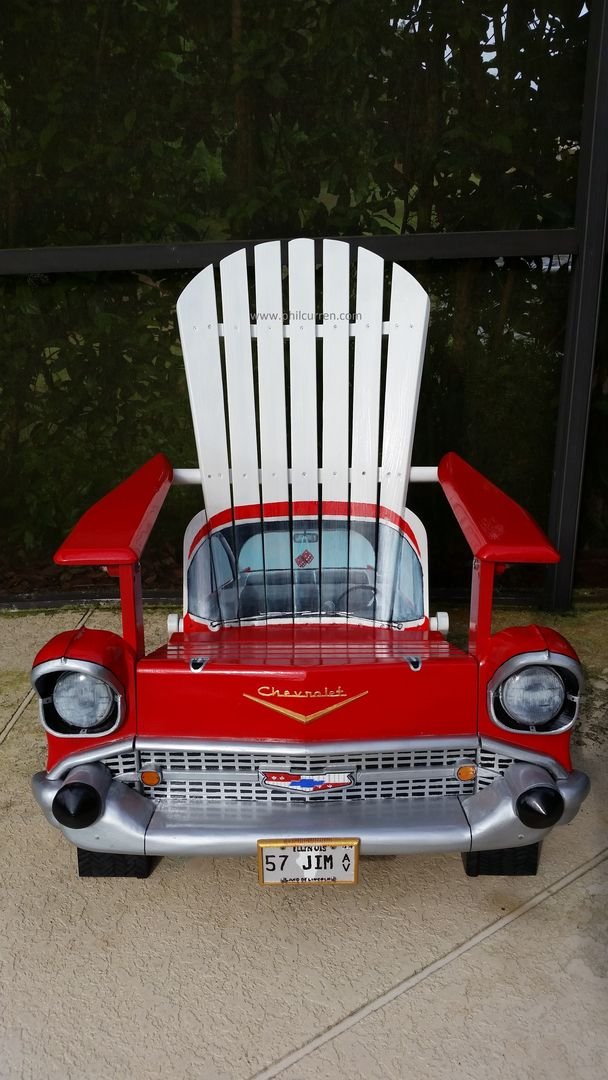 1957 Chevy  A sample of my custom automotive artwork, perfect for unique gifts www philcurren com is part of Adirondack chairs painted -