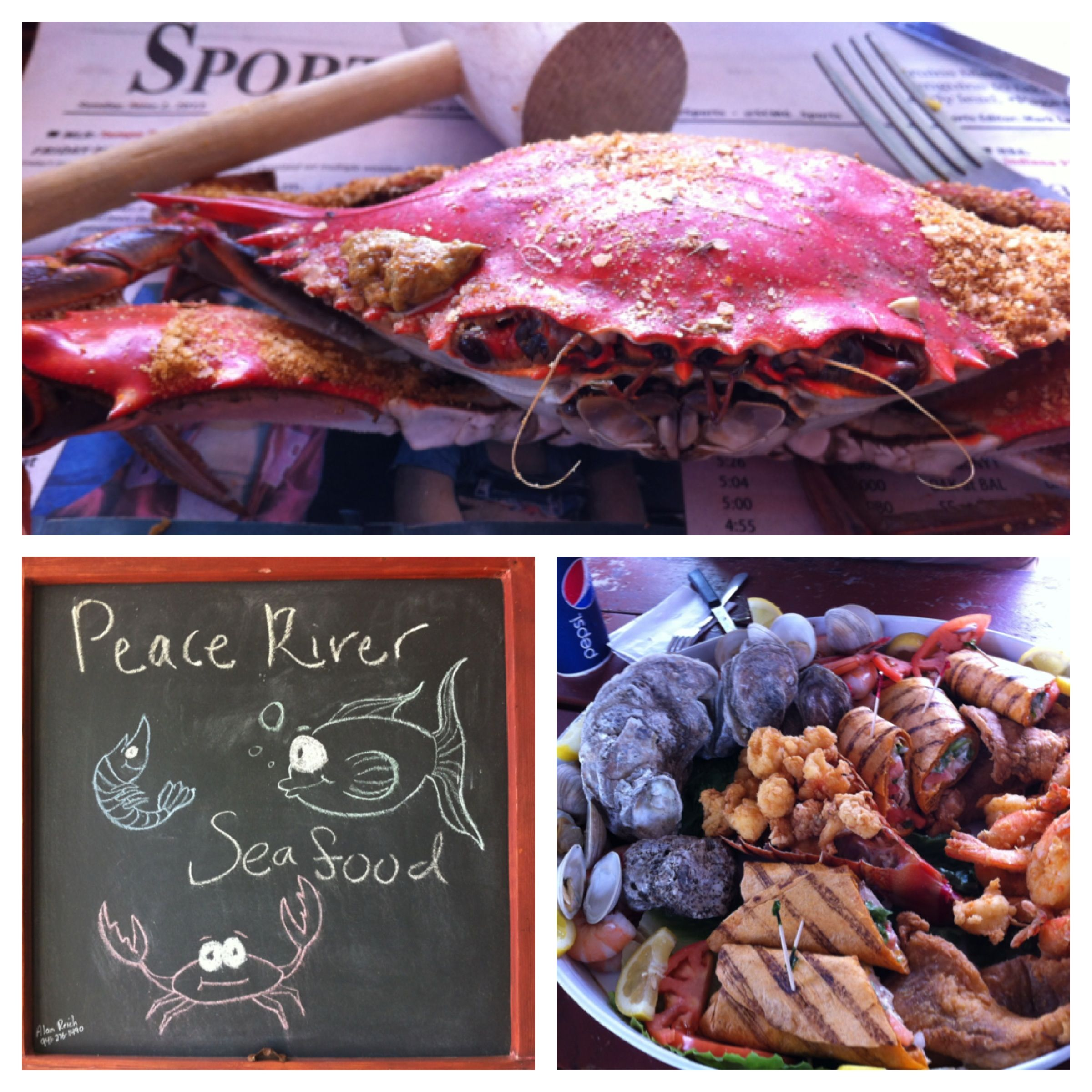 A delicious seafood feast at Peace River Seafood in Punta Gorda and yes, I shares.