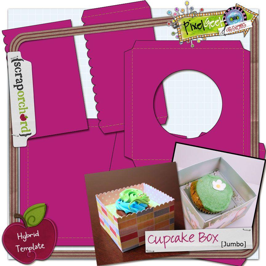 Pin Cupcake Box Template Free Download Cake On Pinterest cakepins - gift box templates free download
