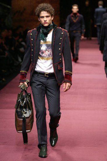 D&G Milan Menswear Ready to Wear Autumn Winter Long scarf