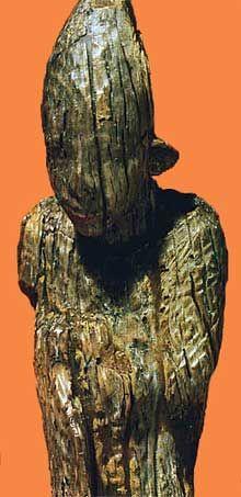 Roi; Egypte, culture de Nagada III : statuette en ivoire d'Abydos. (Site Egypte antique)