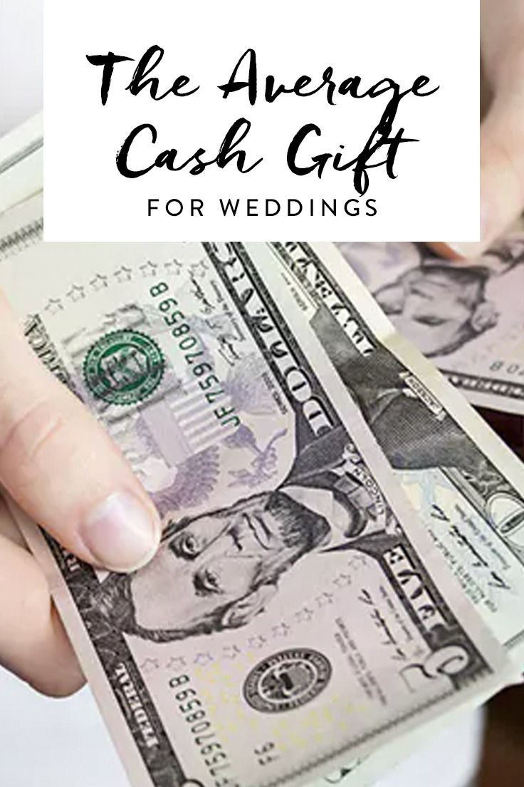 The Average Cash Gift for Weddings Is More Than You Think