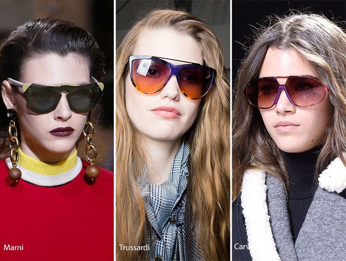 78818bcbb0 Fall  Winter 2016-2017 Eyewear Trends  Sunglasses with Colorful Lenses