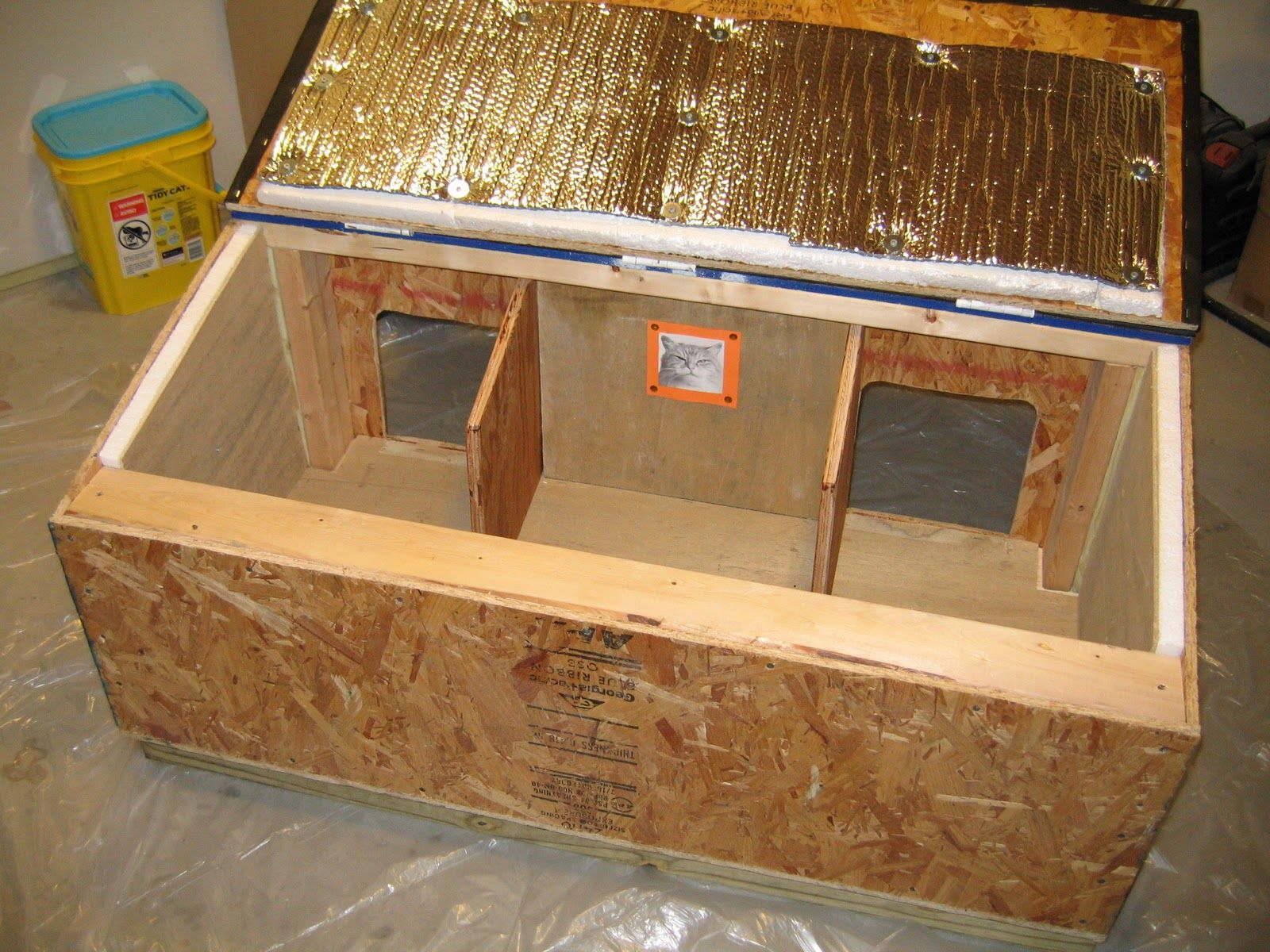 Cat House Plans Insulated Cat House Diy Outdoor Cat House