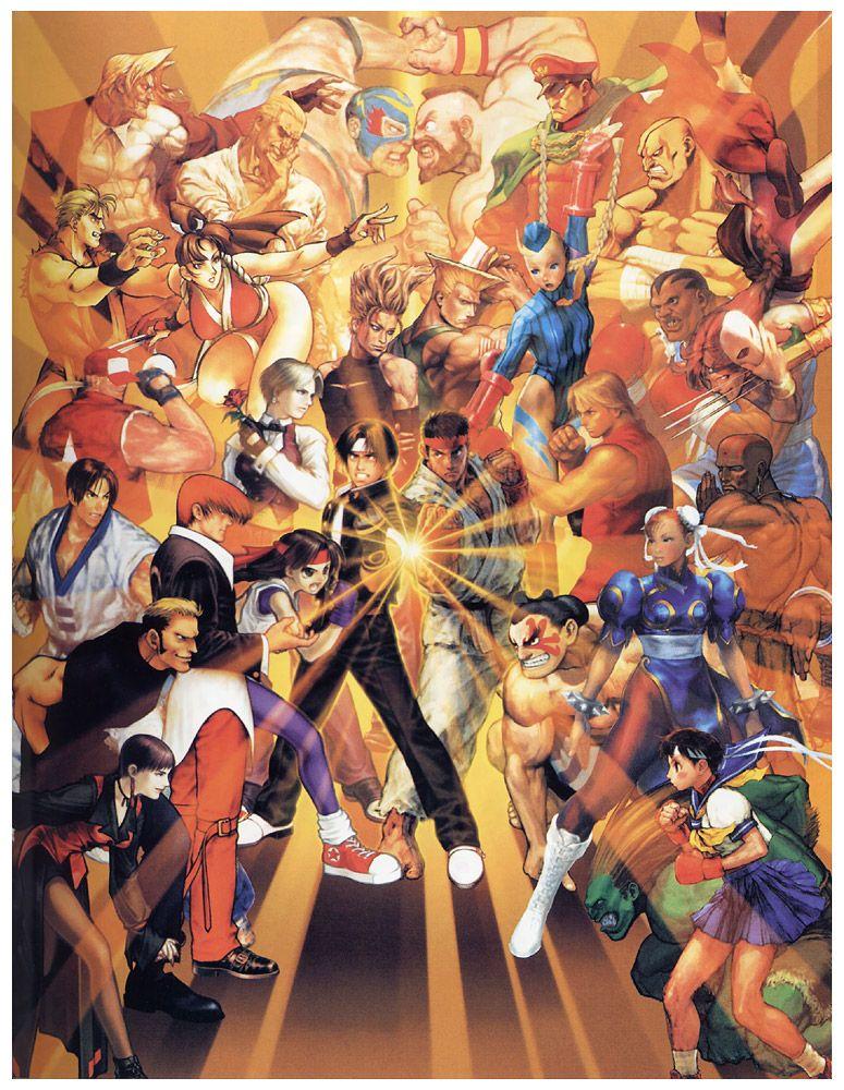 Characters Versus Poster Characters Art Capcom Vs Snk Capcom Vs Street Fighter Art Capcom Art