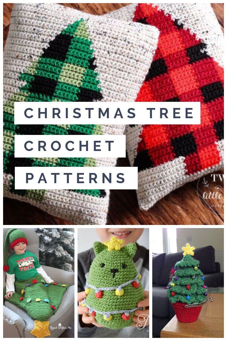 25 Christmas Tree Crochet Patterns Including The Cutest Cat Crochet Patterns Afghan Crochet Patterns Crochet Dragon Pattern