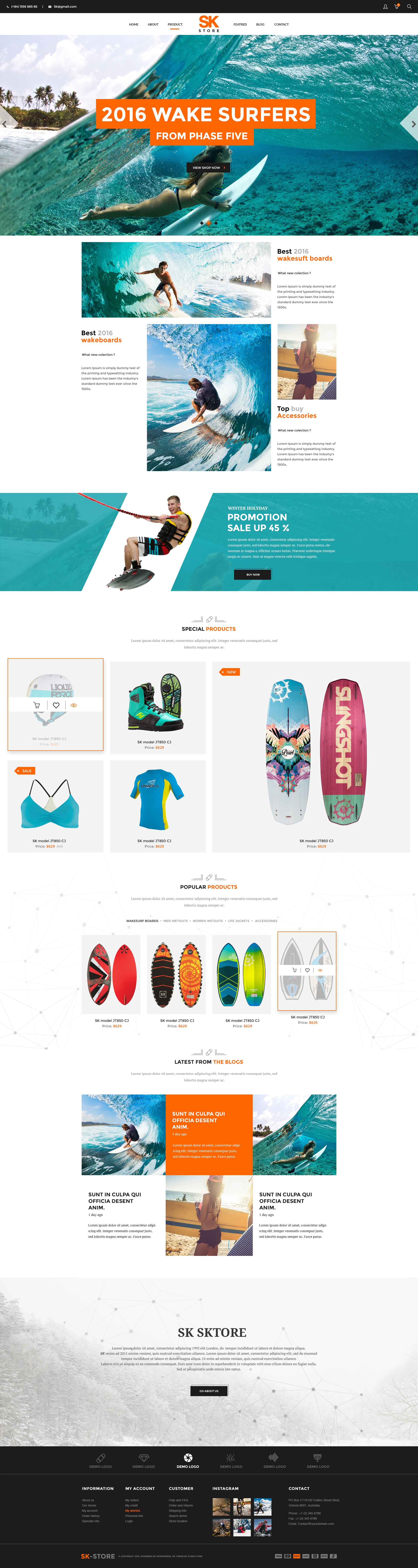 sk store unique shop psd template for sport and athletes psd