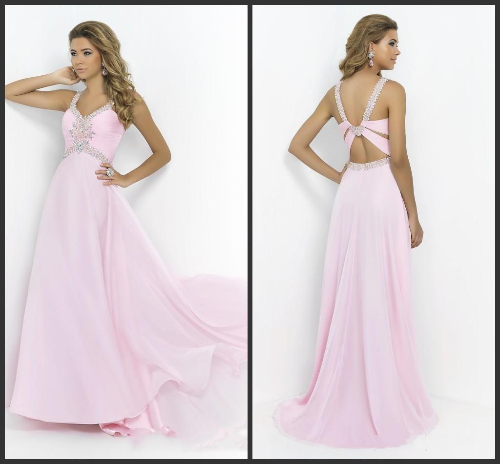 Hot Pink Evening Dresses Deep V Neck Sweet 16 Dresses Sleeveless ...