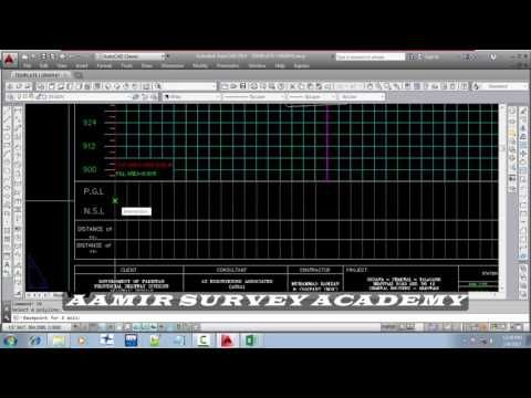 How to draw road longitudinal section or Profile in autocad