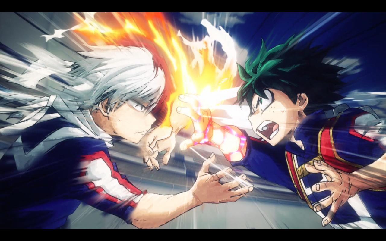 Shotō Todoroki VS Izuku Midoriya Boku no Hero Academia