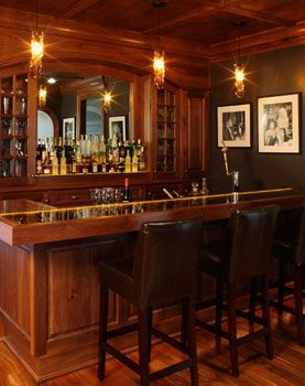 Lovely Bar for A Basement