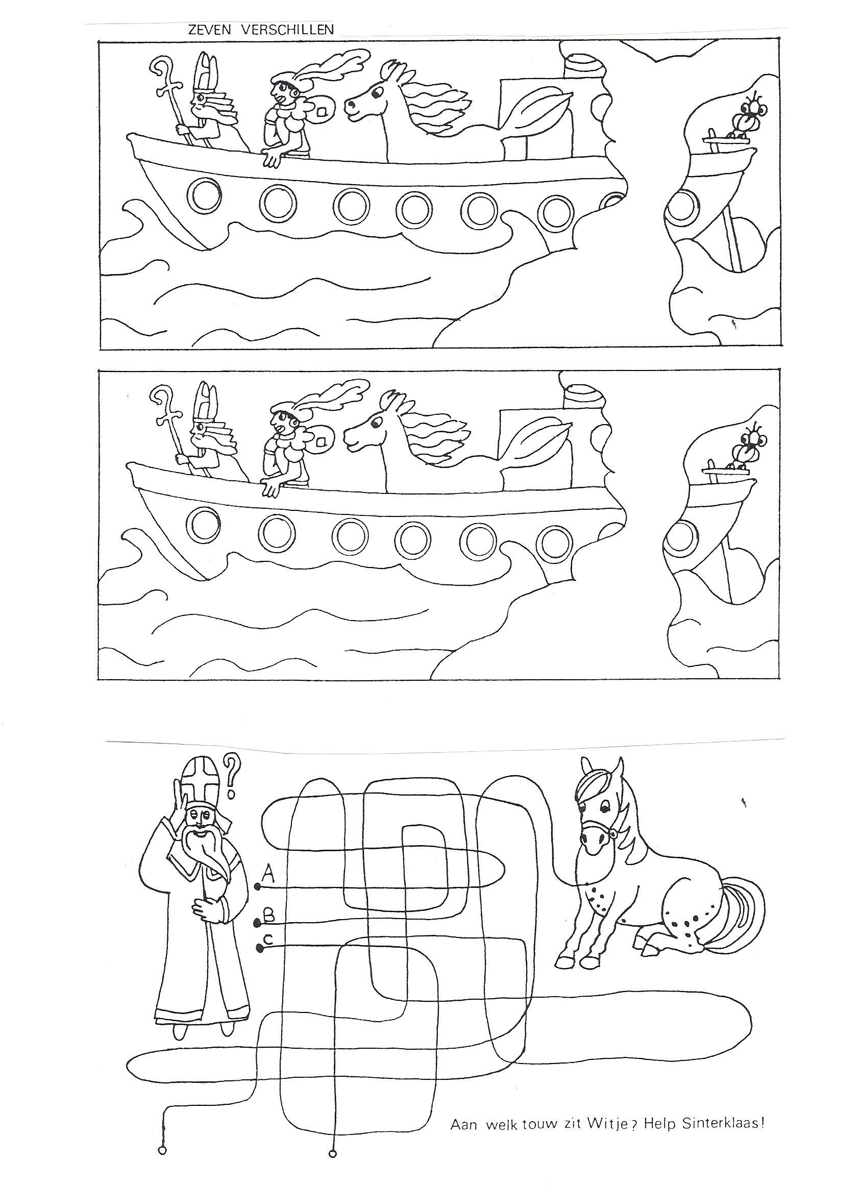 Kleurplaat Kern 9 Puzzels Sint Themaboekje Crea