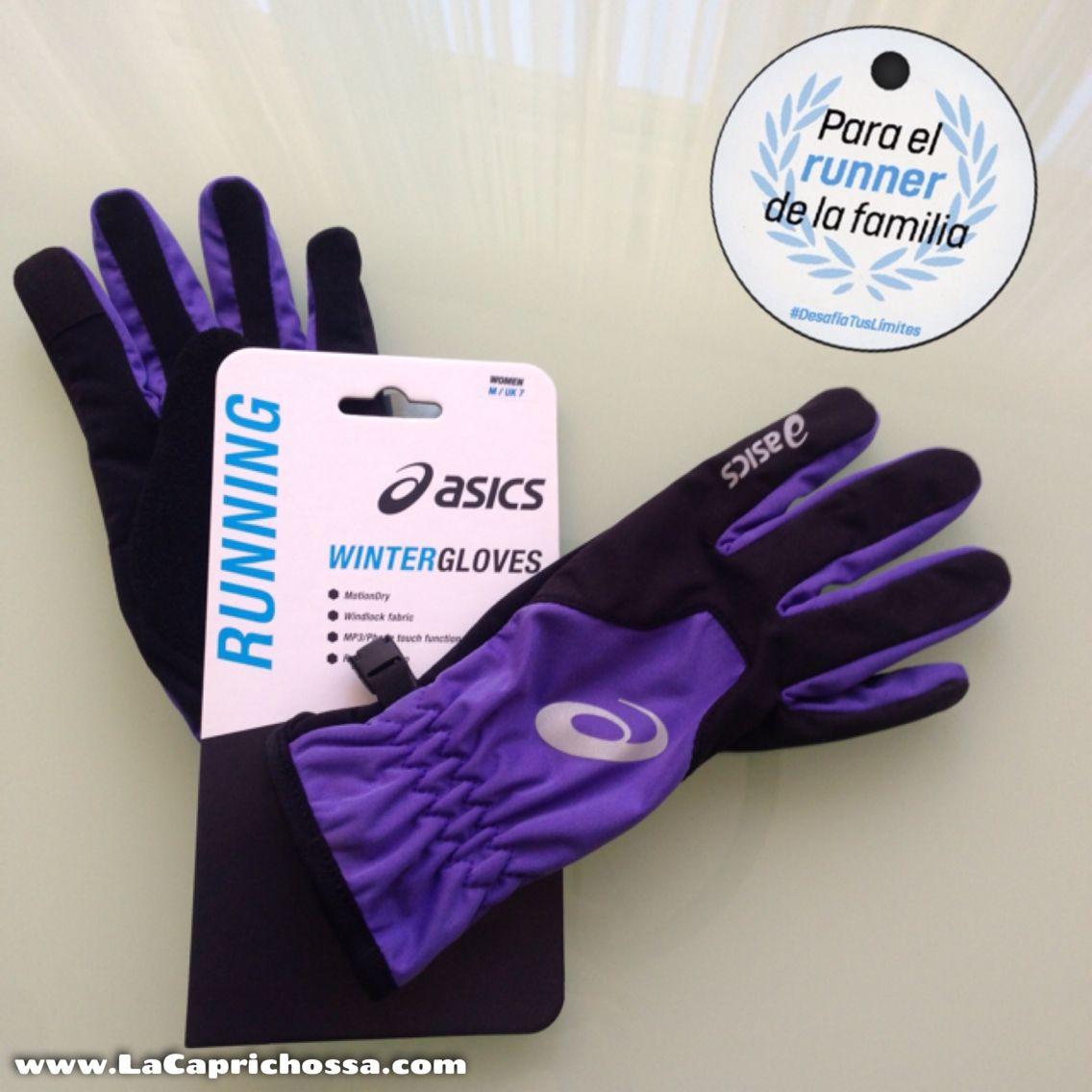 guantes asics running