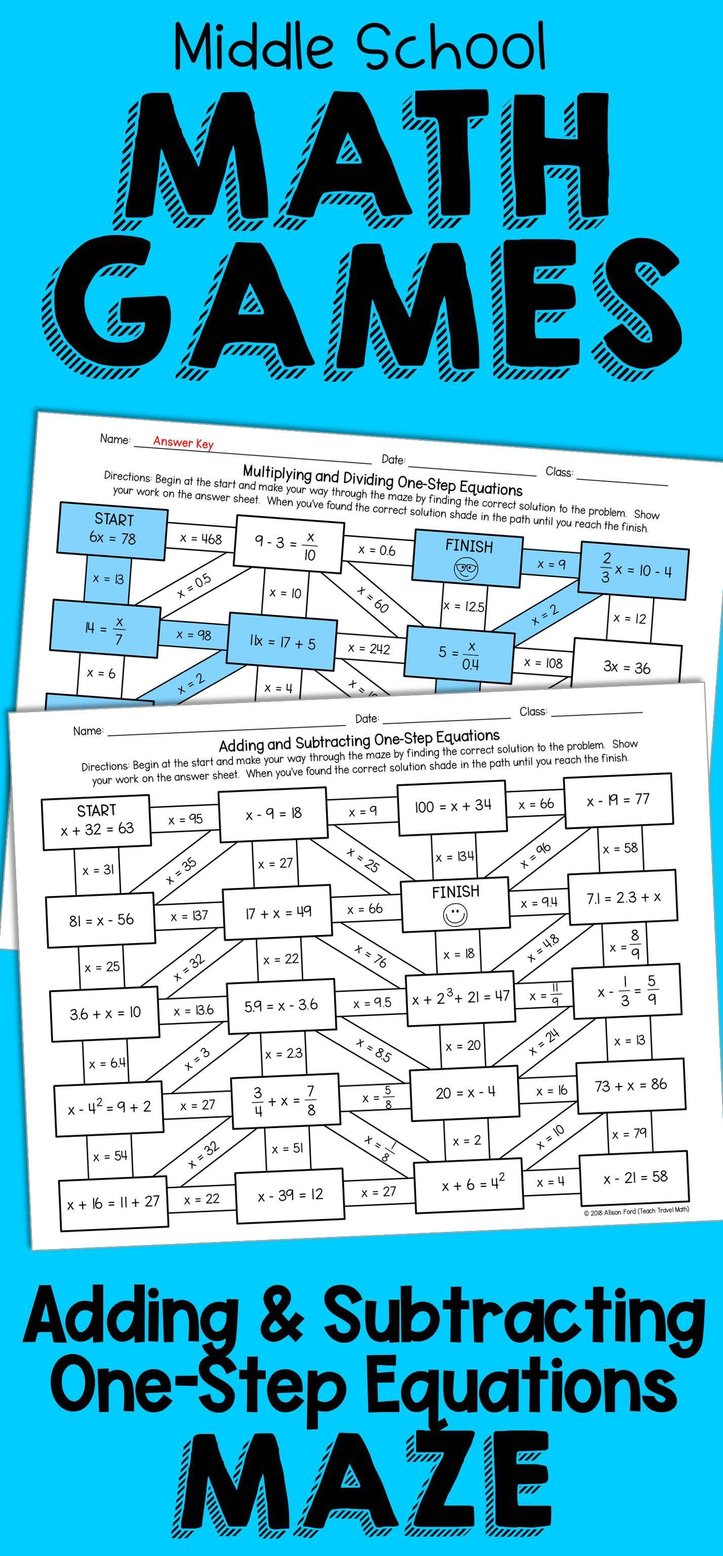 One Step Inequalities Worksheet Adding And Subtracting