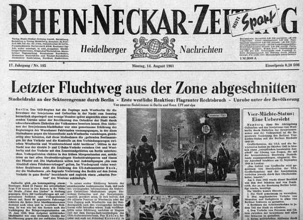 German Articles Berlin Wall Berlin Cold War