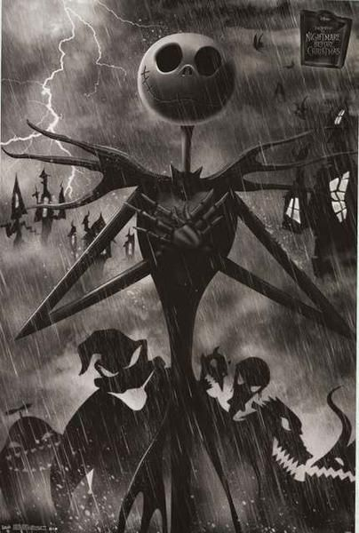 a great poster of jack skellington from tim burton s unique film the nightmare before christmas fully licensed ships fast 22x34 inches